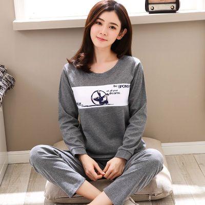 女式睡衣女春秋款长袖套装韩版女士学生卡通大码女生家居服女秋季