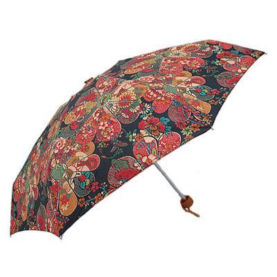 【韩国外贸伞】宫廷风遮阳防晒迷你五折口袋伞三折伞晴雨两用雨伞