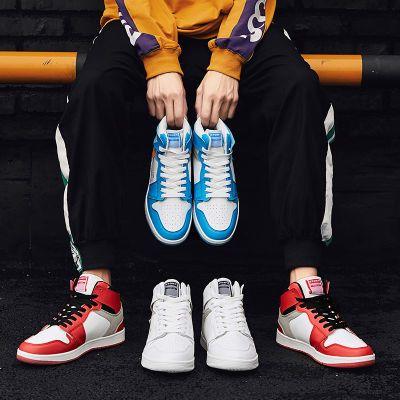 抖音同款篮球鞋防滑情侣复古透气增高百搭ins老爹鞋高帮板鞋
