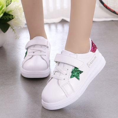 女童运动鞋2018新款儿童小白鞋透气休闲公主鞋白色单鞋男童板鞋潮