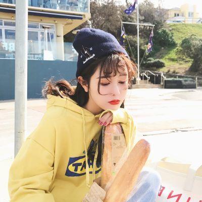 毛线帽子女韩版学生林珊珊同款百搭冬天街头加绒保暖日系针织帽男