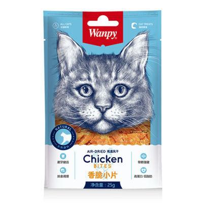 顽皮Wanpy猫用金针软丝香脆小片猫咪零食25g*12入/30g*12入