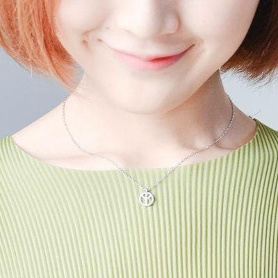 韩国简约气质学生日礼物s925纯银创意个性反战吊坠短款锁骨项链女