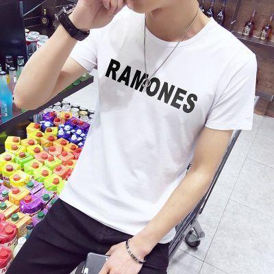 秋冬季韩版男士纯白色t恤男短袖纯色圆领修身t��打底衫长袖衣服潮