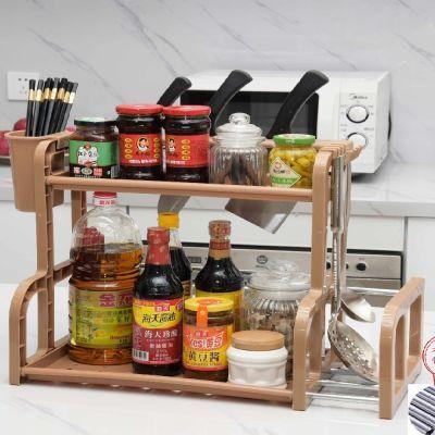 【不锈钢配件】厨房置物架收纳架油盐酱醋整理架刀架砧板架带筷笼