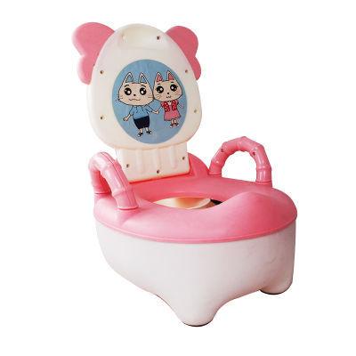 加大号儿童马桶熊猫座便器1-6岁宝宝便盆婴儿手扶马桶软垫抽屉式