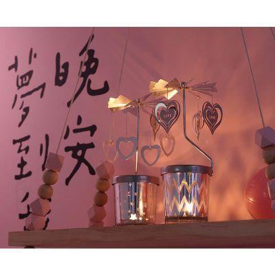 复古摆件走马灯小蜡台默默爱梦幻旋转蜡烛香薰烛台欧式铁艺浪漫
