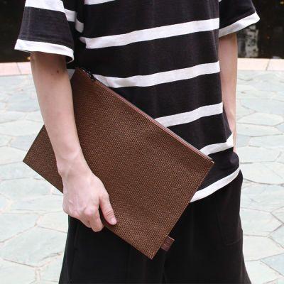 收据文具A4纸文件袋办公资料档案收纳袋环保文艺手提包手拿编织袋