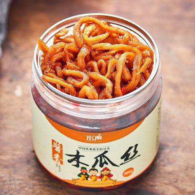 【不涨瓶不发酸】水声牌酱香木瓜丝香辣爽口酱菜开胃菜永乐湾特产