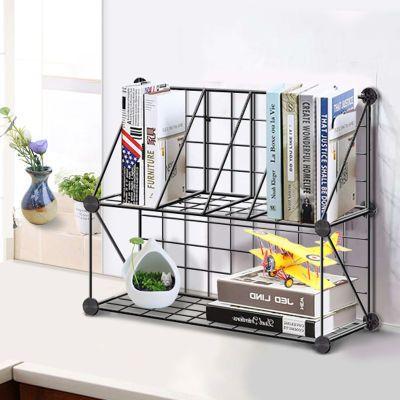 创意电脑桌上书架时尚桌面书柜儿童简易置物架小型办公收纳架简约