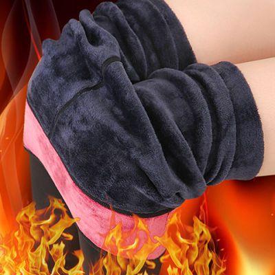 300-700克冬季人棉加绒加厚打底裤外穿大码护腰踩脚保暖打底棉裤