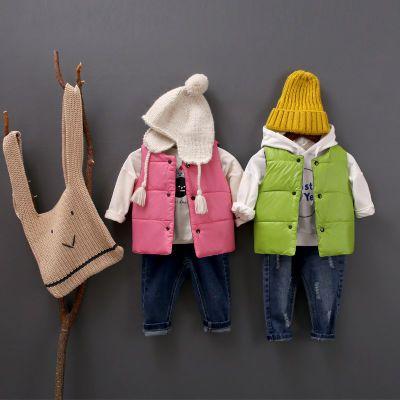儿童秋冬时尚棉马甲中小童内胆坎肩男童女童双面可穿小背心外穿