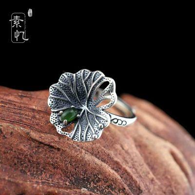 四排银珠戒指编发图片