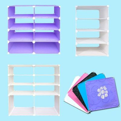 衣柜分层架隔板收纳架收纳柜衣服多层架分类整理组装塑料置物架子