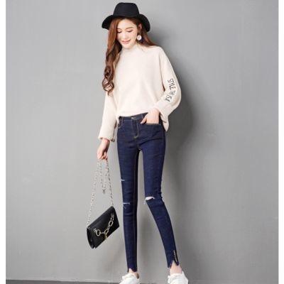 裤子女学生韩版牛仔裤秋装新款喇叭裤高腰直筒九分裤2018牛仔裤女