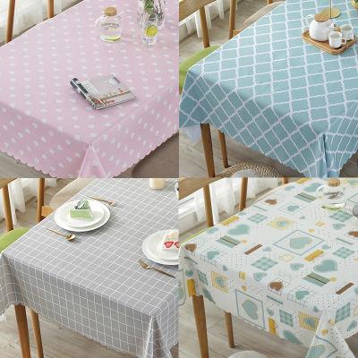 桌布防水防烫防油免洗pvc塑料台布艺小清新长正方形北欧少女心