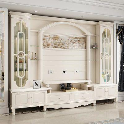 包安装大户型烤漆电视柜组合 欧式背景墙客厅影视装饰柜酒柜家具