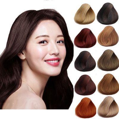 【一洗上色 无需勾兑无伤害】一洗染发剂彩色永久植物盖白发