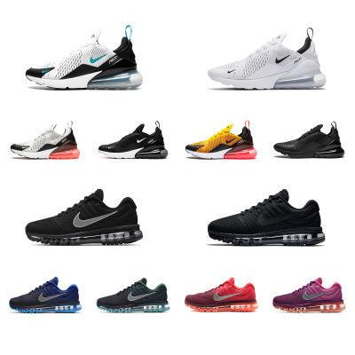 新款透气网面运动鞋跑步鞋男女鞋休?#34892;?#24773;侣百搭学生270气垫鞋