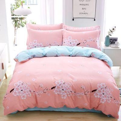 宿舍被套家纺全棉床上四件套床裙加厚家纺加厚欧式床简约欧式床加
