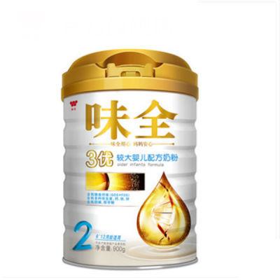 味全3优2段 较大婴儿配方奶粉 儿童奶粉 牛奶粉 罐装 6-12月宝宝