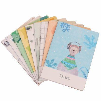 韩国文具白纸本快乐大本营幼儿园本子批发卡片纸古风笔课堂笔记本
