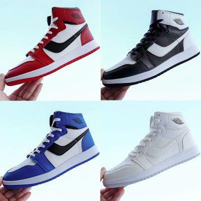 ajl高帮男鞋乔1芝加哥战靴防滑耐磨黑白红色黑脚趾板鞋运动蓝球鞋