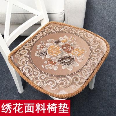 【绣花面料】欧式餐椅垫套装坐垫椅垫餐桌椅家用加厚中式椅子垫子