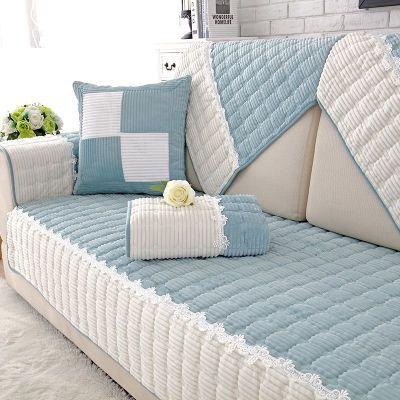 沙发垫简约现代客厅防滑加厚布艺四季通用毛绒全包沙发套巾罩坐垫