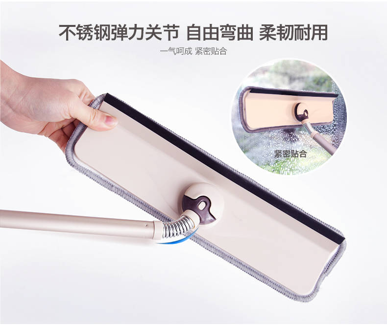 【刮擦一体】擦玻璃神器家用玻璃刮子清洁器擦窗器刮水器地刮伸缩杆搽玻璃刮刀【量稻百货】