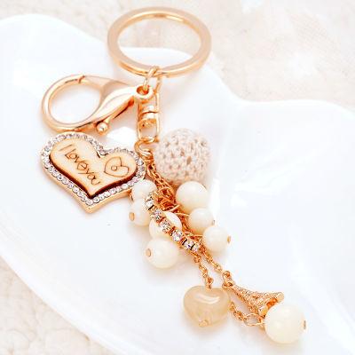 韩版串珠钥匙扣女汽车钥匙扣挂件可爱包包挂件饰品钥匙扣女韩版