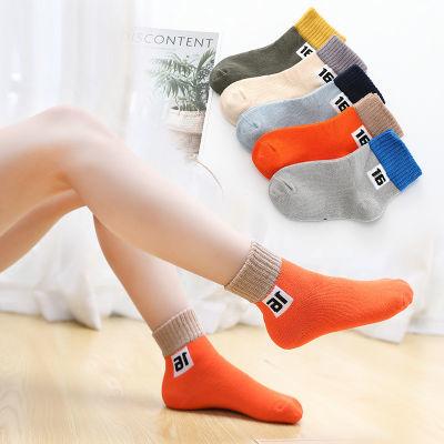 促挺【棉袜5双】童袜中短袜童袜男女中筒儿童袜子小孩袜子