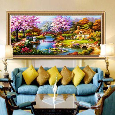 夢幻家園鉆石畫歐式油畫滿鉆風景貼鉆十字繡點鉆大幅客廳5d磚石畫
