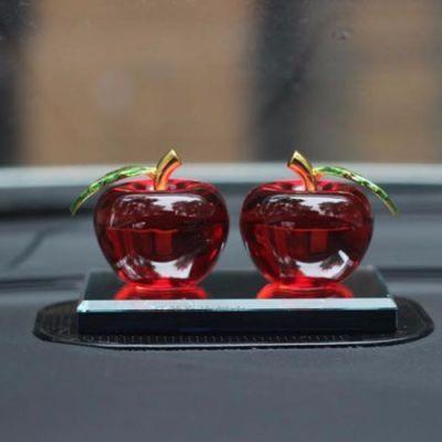 包邮高档水晶苹果汽车香水座摆件时尚创意座式车内饰品车载车用
