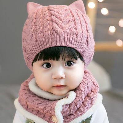 婴儿帽子秋冬季5-6-12个月儿童帽男女孩加绒加厚保暖宝宝毛线帽潮