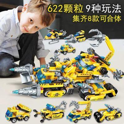 启蒙�犯呋�木拼装玩具变形机器人金刚5儿童7男孩8益智6-10岁3智力