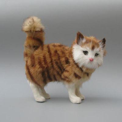 仿真猫咪假猫花猫桌面橱窗陈列品送女友生日礼物动物模型家居摆件