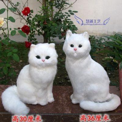 仿真猫咪桌面摆件家居装饰品仿真动物猫礼物送礼节日礼品桌面摆件