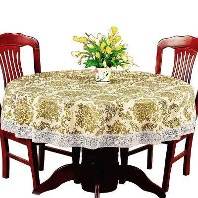 圆形桌布防水防油防烫免洗加厚塑料酒店餐馆圆台布大圆桌布艺