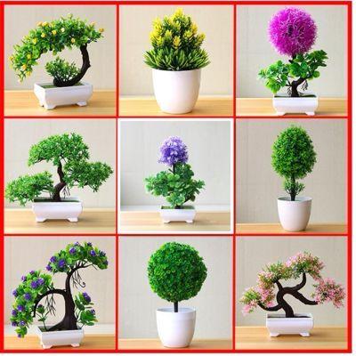 仿真花艺装饰品、客厅卧室家居会议厅招财运摆件花草盆栽