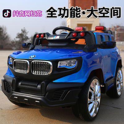 儿童电动汽车四驱动带遥控小孩摇摆车越野车可坐人大号宝宝四轮车