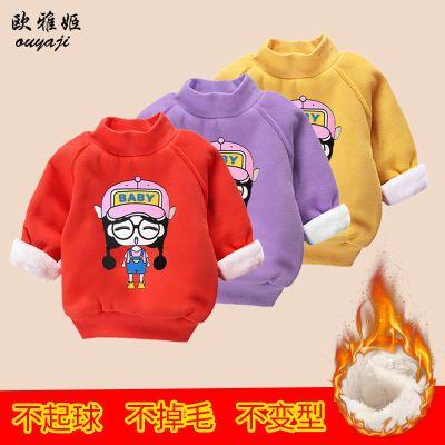 冬季双层加厚高领儿童保暖卫衣