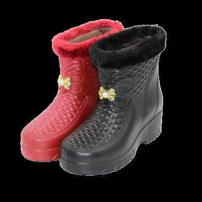 加绒男女雪地靴棉鞋雨鞋洗衣厨房卫生工作鞋EVA高帮棉鞋保暖雨靴