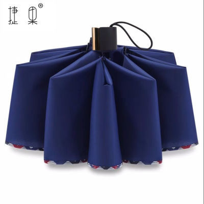捷果十骨八骨加固加大雨伞双人三人大号折叠雨伞男女商务伞三折伞
