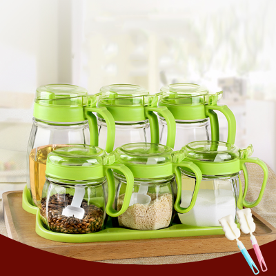 家用玻璃油壶调味防漏油罐厨房用品调料瓶酱油瓶醋瓶盐罐组合套装