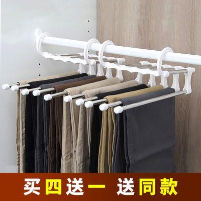 魔术裤架多功能折叠收缩收纳衣挂家用省衣柜空间专家多层衣服挂架