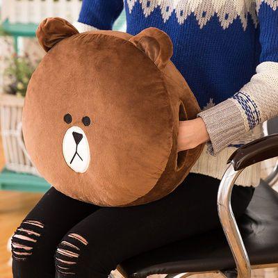 line布朗熊莎莉鸡毛绒玩具公仔抱枕暖手生日礼物捂手枕冬季睡觉