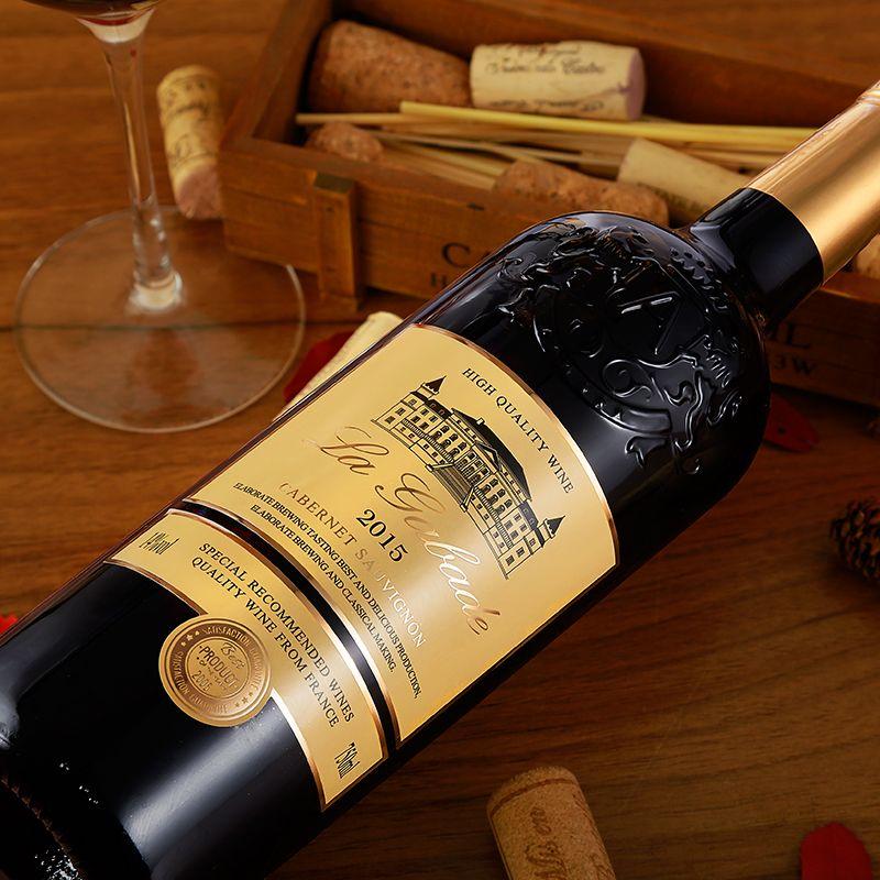 【拉佳佰德】法国14度品牌红酒拉佳佰德城堡干红葡萄酒750ml*6支