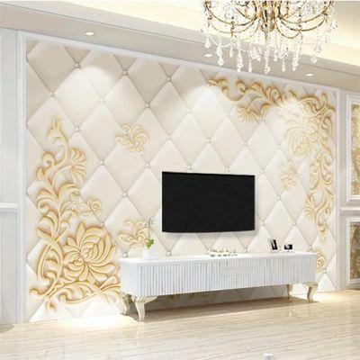 3d中式电视背景墙壁纸壁画客厅无缝欧式5d影视壁纸墙纸8d卧室墙布