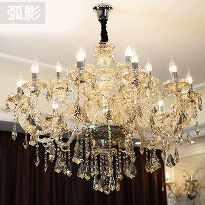 欧式吊灯现代水晶灯别墅客厅灯创意奢华卧室灯饰简约大气餐厅灯具